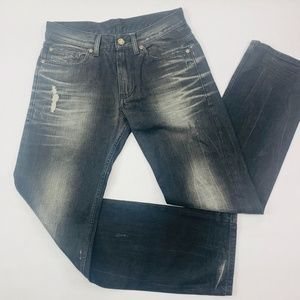 AX Armani Exchange Mens Jeans 31 Black Relaxed